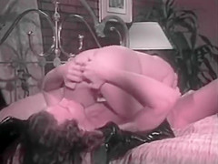 Samurai Retro Sweethearts - Madison Stone - black boots pink sheets and tom