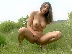 Zafira pisses in different places in the hot compilation