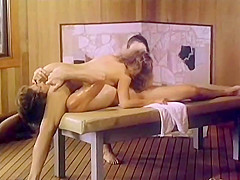 Vintage Sauna Massage Threesome