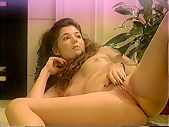 Sexy Shy MILF Strips then Rubs Firm Tits and Spreads Hairy Trimmed Pussy