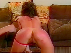 Raunchy babe twists and twirls before passionate maledom