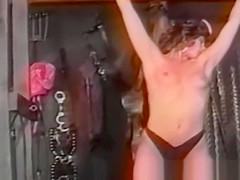 Nubile brunette crotch dominated with lesbian BDSM