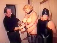 I am Pierced Vintage BDSM slave granny Pussy nips piercings