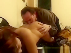 Retro amateur asseaten before jerking