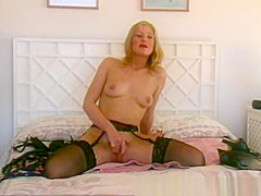 Vintage British MILF Talks Dirty As She Masturbates