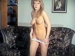 TAKE ON ME - vintage 80's striptease dance stockings blonde