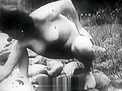 Old-fashioned Group Sex Outdoors (1950s Vintage)