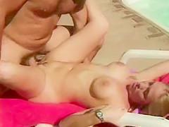 Pool side sex