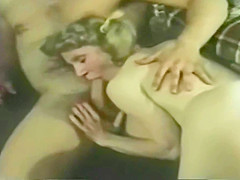 Classic group sex anal