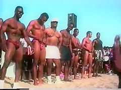 black men swimwear contest