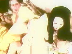 Two Stacked Babes Whipping in Bed (1970s Vintage)
