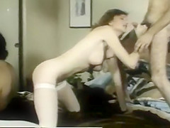 Naughty bride gets rammed by two guys