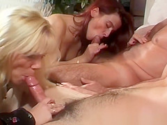 Stunning sluts riding big cocks on the couch
