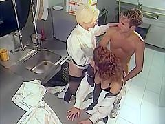 Private Classics, Hot Threesome in the Kitchen