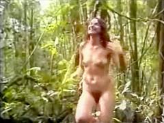 Nude women running cross country