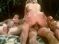Retro foursome with big tits milfs