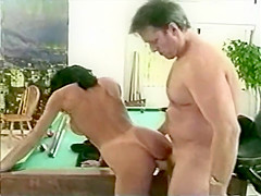 Hank Armstrong, Anna Malle another pool table fuck
