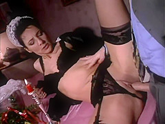 Monika Jestel   Young waitress served the client in full