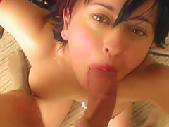 Blast from her Teenage past! Cute little Britney Swallows in two Awesome Retro Scenes: Rugburn &amp_ Training Day. TWO facials, TWO cum loads swallowed, plus young perky tits and ass.