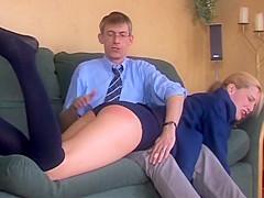 Over teachers knee