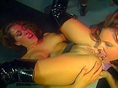 Super Hot Blond Pornstar Charli in Vintage Lesbian Sex