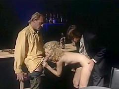 Retro Blonde Pornslut Gets Tag Teamed Hard