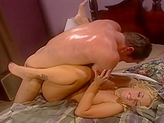 Eighties Chick Gets Rocked By Huge Cock From Behind