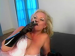 sexy retro mature smoking slut tease
