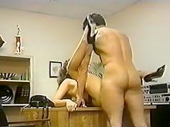 Peter North fucks Tamara Lee over a desk
