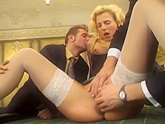 Beautiful Lady Gets Disgracefully Fucked In A Wild Gangbang