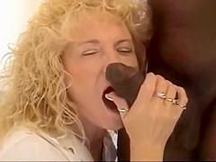 Curly Blonde Slut gets a BBC creampie