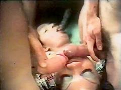 Incredible facial retro clip with Vanessa Del Rio and Jamie Gillis