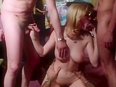 Horny double penetration classic movie with Dominique Aveline and Patrick Aubin