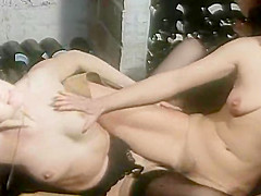 Exotic facial retro movie with Cyril Val and Celine Gallone