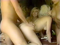 Fabulous facial vintage movie with Tianna and Heather Torrance