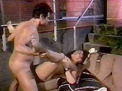 Amazing black retro clip with Nina DePonca and Paul Thomas