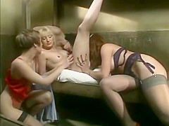 Fabulous lesbian vintage movie with Charlotte Stephie and Lydia Vitam