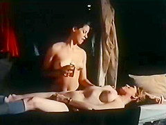 Crazy lesbian vintage scene with Luke Gusher and Tara Aire