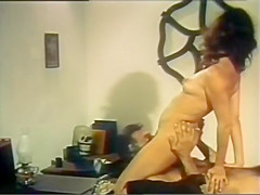 Exotic black vintage clip with John Leslie and Joan Devlon