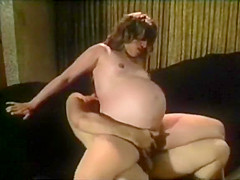 Huge Preggo Riding Dick