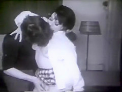 Vintage: 60s girl and her boyfriend caught out