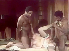 blonde get fucked by 2 black guys part 2