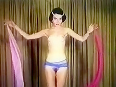 EXOTIC DANCE OF THE SILKEN SCARVES - vintage slim tease