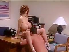Vintage Readhead Huge Breasts Rides Cock