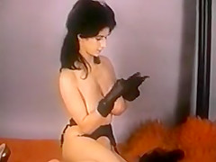 GLOVES AND STOCKINGS - vintage nylons striptease big boobs