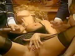Retro Threesome with Horny Woman