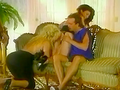 Two girls get fucked with prostate massage