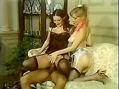 Vintage Two Girls With A Guy