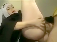 French Nun like Ass Fuck