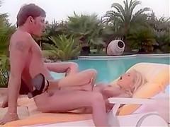 Gina near the Pool
